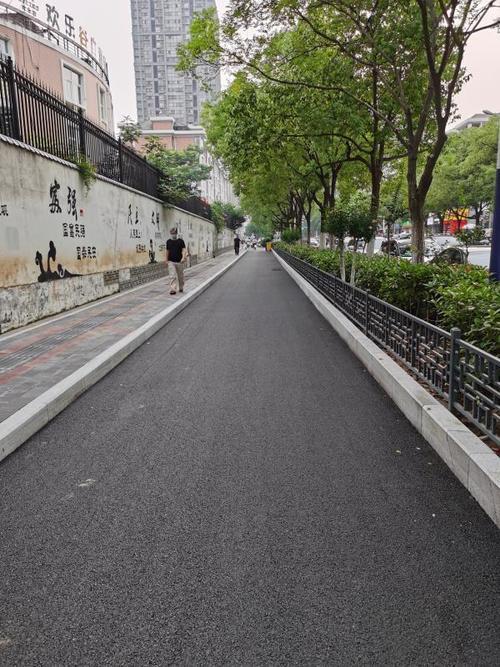 合肥市岳西路、贵池路、樊洼路慢行系统改造完成